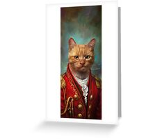 Court General Wise Cat  Greeting Card