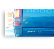 Bumper Sticker Canvas Print