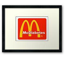 McDiabetes Framed Print