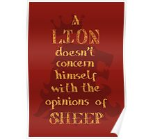 Motivational Quote Lion Typography Graphics Poster