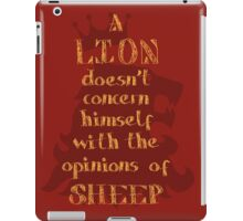 Motivational Quote Lion Typography Graphics iPad Case/Skin