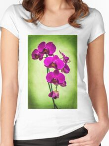 Orchid in Green Women's Fitted Scoop T-Shirt
