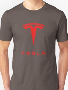 tesla logo tour 2016 Unisex T-Shirt