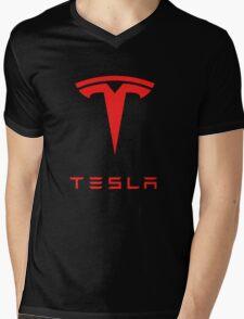 tesla logo tour 2016 Mens V-Neck T-Shirt