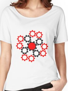 arrangement rotate gears machine mechanical clockwork cool star Women's Relaxed Fit T-Shirt