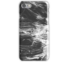 Black and White Wave Fibers iPhone Case/Skin