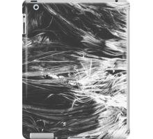 Black and White Wave Fibers iPad Case/Skin