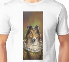 Collie, The Court Favorite Lady Dog Unisex T-Shirt