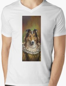 Collie, The Court Favorite Lady Dog Mens V-Neck T-Shirt