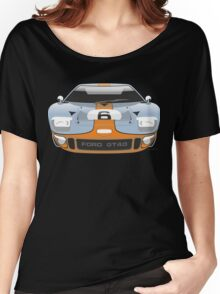 Ford GT 40 Gulf Racing livery Women's Relaxed Fit T-Shirt