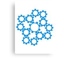 arrangement rotate gears machine mechanical clockwork cool star Canvas Print