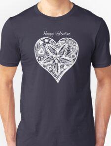 Valentine Heart 4 -  Happy Valentine in White T-Shirt