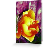 Surreal Rose Greeting Card