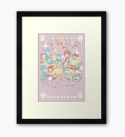 Fire Emblem Tea Party BOY VERSION Framed Print