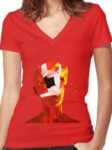 SUPERHOT Women's Fitted V-Neck T-Shirt