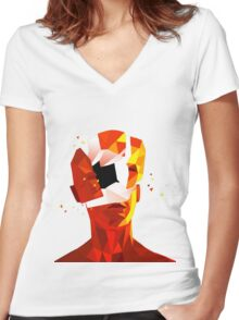 SUPERHOT Women's Fitted V-Neck T-Shirt