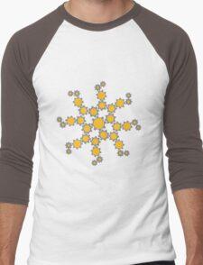 gears machine clockwork turn mechanically cool star Men's Baseball ¾ T-Shirt