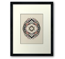 Radial Typography  Framed Print