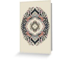 Radial Typography  Greeting Card