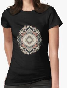Radial Typography  Womens Fitted T-Shirt