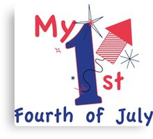 1st Fourth of July Canvas Print