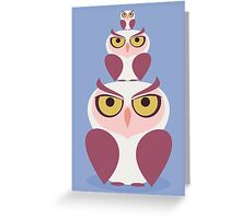OWLS THREE DEEP Greeting Card
