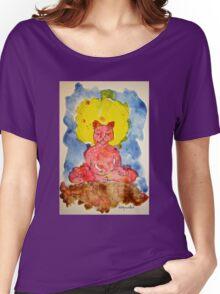 RED ZAZEN CAT Women's Relaxed Fit T-Shirt