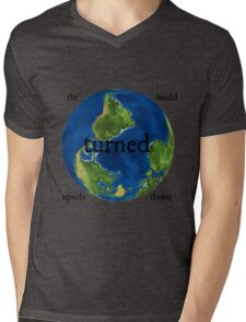The World Turned Upside Down Mens V-Neck T-Shirt