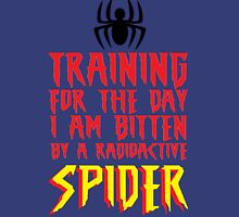TRAINING FOR THE DAY I AM BITTEN BY A RADIOACTIVE SPIDER Tank Top
