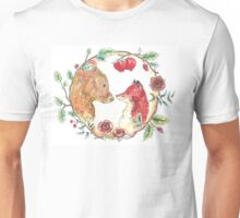 The bear and the fox  Unisex T-Shirt