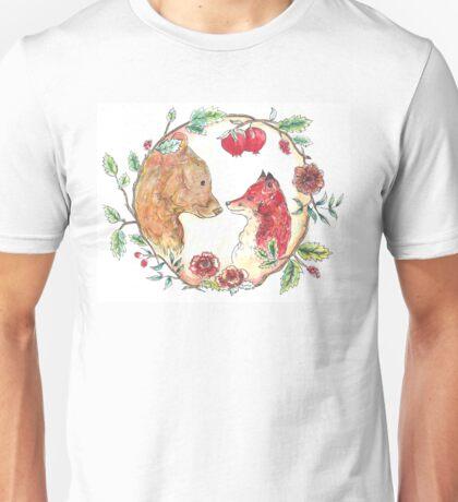The bear and the fox  Unisex T-Shirt