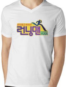 Running Man Logo Mens V-Neck T-Shirt