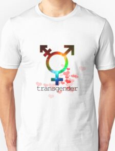 Transgender pride flag, gay love, lesbian love T-Shirt