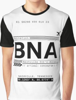 BNA Nashville International Airport Call Letters Graphic T-Shirt
