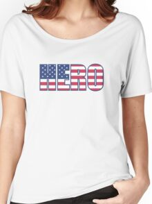 hero us flag (memorial day) Women's Relaxed Fit T-Shirt