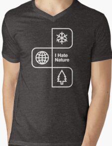 I Hate Nature Mens V-Neck T-Shirt