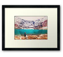 Iceberg Lake, Montana _ American Cutouts Framed Print