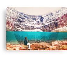 Iceberg Lake, Montana _ American Cutouts Canvas Print