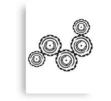 gears circular globe pattern design technology swirls cool futuristic Canvas Print