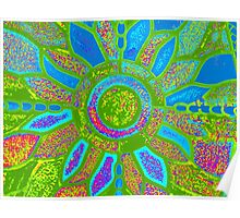 TEXTURED COLORFUL FLOWER Poster