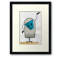 Blue Mask Framed Print