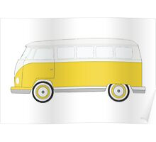 Yellow Volkswagen Bus Poster