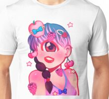 cyclops and fruit / red & pink Unisex T-Shirt