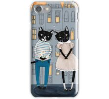 Cats First Date iPhone Case/Skin
