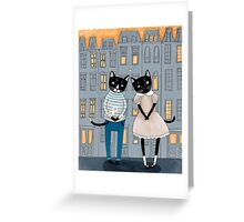 Cats First Date Greeting Card