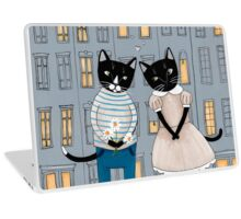 Cats First Date Laptop Skin