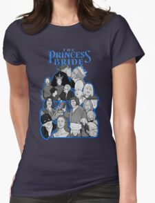 the Princess Bride character collage Womens Fitted T-Shirt