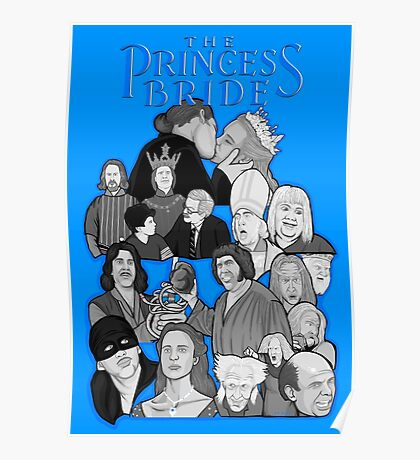 the Princess Bride character collage Poster