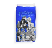the Princess Bride character collage Duvet Cover