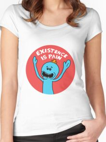 Existence is Pain Women's Fitted Scoop T-Shirt